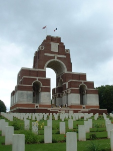 Thiepval Memorial to the Missing built by Edwin Lutyens.